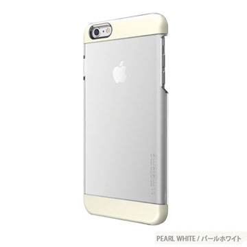 【motomo】iPhone6 Plus 5.5吋 INO Clear Wing透明感保護殼-珍珠白