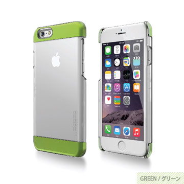 【motomo】iPhone6 Plus 5.5吋 INO Clear Wing透明感保護殼-綠色