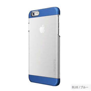 【motomo】iPhone6 Plus 5.5吋 INO Clear Wing透明感保護殼-藍色