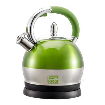 KRIA可利亞 2.5公升全不鏽鋼防塵電煮壺KR-396G綠