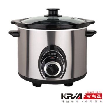 【KRIA可利亞】4L不銹鋼黑瓷養生燉鍋/調理鍋KR-40Z