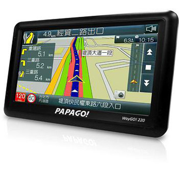 PAPAGO WayGo220 5吋高效能衛星導航機