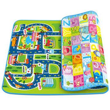寶貝家 歡樂城市+字母薄款雙面攜帶遊戲墊/地墊