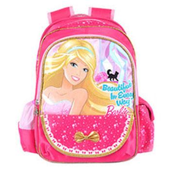 芭比Barbie 魔力甜心護脊書包B-玫紅