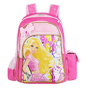 芭比Barbie 小甜心護脊書包A-玫紅