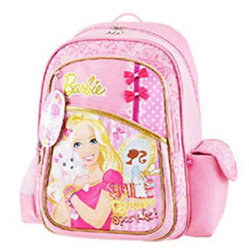 芭比Barbie 魔力甜心護脊書包A-粉紅