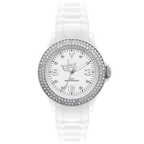 ICE-Watch STAR系列 星星矽膠晶鑽腕錶(白x銀)48mm