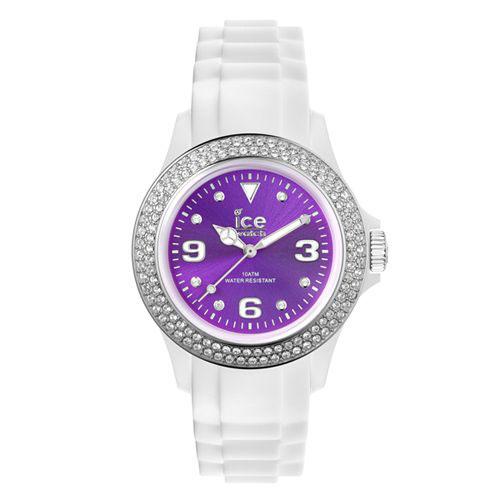 ICE Watch STAR系列 星星晶鑽矽膠腕錶(紫x白)42mm
