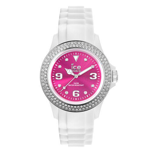 ICE Watch STAR系列 星星晶鑽矽膠腕錶(粉玫x白)42mm