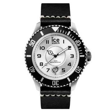 ICE-Watch 懷舊復古系列 高級皮革錶帶腕錶 -黑/銀/48mm