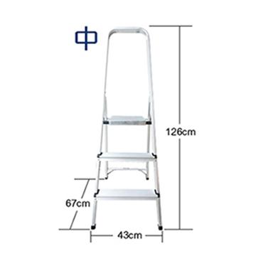 台灣製 超輕巧全鋁合金防滑收折鋁梯(中) 五年保固