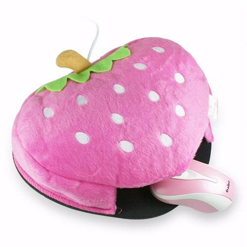 加價購-USB 草莓造型 保暖滑鼠墊