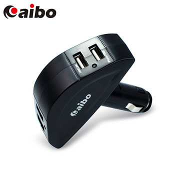 AIBO 四孔USB車用充電器-4800mA