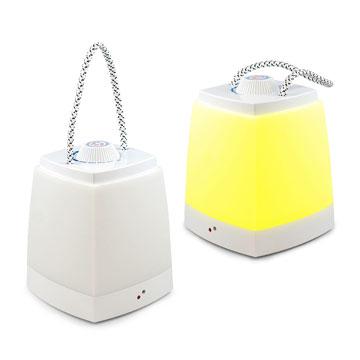 USB LED 可充電式露營手提燈-黃光