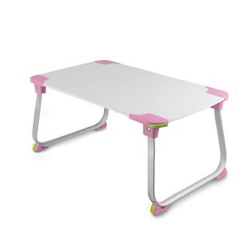【aibo】 超輕多功能折疊NB電腦桌-粉紅