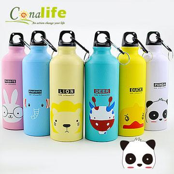 Conalife-卡哇依攜帶式韓版萌動物運動水壺6入