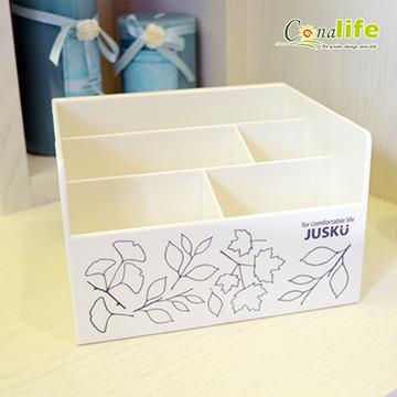 Conalife MIT多格桌上收納置物盒(顏色隨機)
