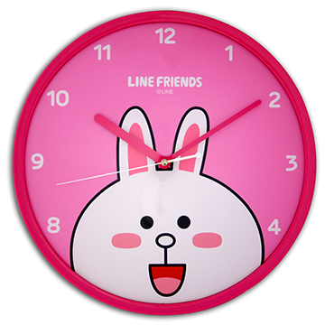 LINE FRIENDS JM-W569LECY 兔兔靜音個性掃描機芯掛鐘