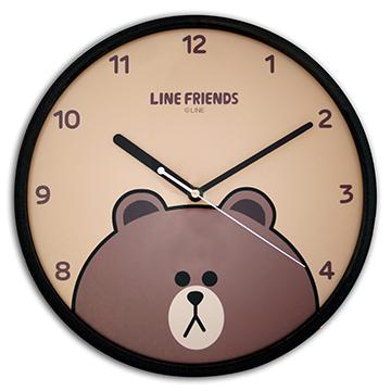 LINE FRIENDS JM-W569LECY 熊大靜音個性掃描機芯掛鐘