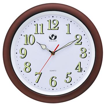WIN TIME W-6870 夜光數字掛鐘/簡約生活時鐘
