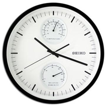 【日本精工-SEIKO】QXA525K 滑動式秒針溫度/濕度顯示掛鐘