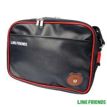 【LINE FRIENDS】休閒皮質側背包LI-5217