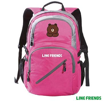 【LINE FRIENDS】運動休閒背包LI-5586桃色