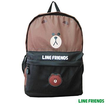 【LINE FRIENDS】休閒背包LI-5456B款 咖熊大頭