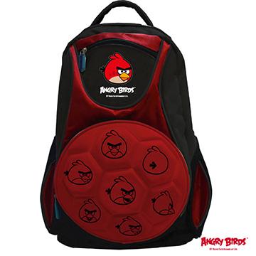 【Angry Birds 憤怒鳥】足球造型組合書背包AB-6019A紅色