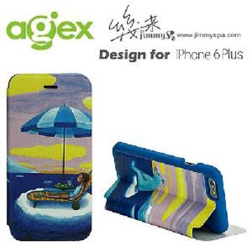 幾米系列《真的假的啊》iPhone 6 Plus 5.5吋掀蓋皮套-海洋男孩