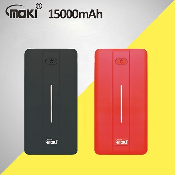 MOKI 15000mAh大容量行動電源 MK-512-紅