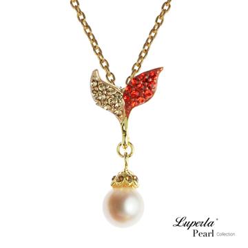 大東山珠寶 童話森林 幸運魔豆苗珍珠項鍊 豔麗紅