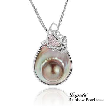 大東山珠寶 頂級彩虹珍珠璀璨寶石胸墜兩用 曠世珍情