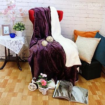 雪尼絨舒棉柔毯-紫