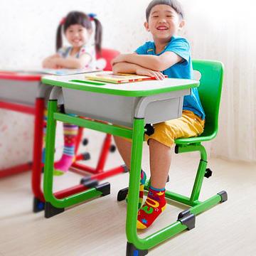 WASHAMl-WSH 日式快樂兒童升降學習桌椅組-綠色